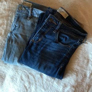 Two pairs of Abercrombie Skinny jeans